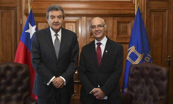 Presidente de la Corte Suprema recibió la visita del presidente de la Corte de Rancagua