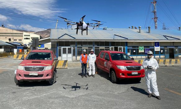 El Teniente sumó un dron a su plan para combatir el coronavirus