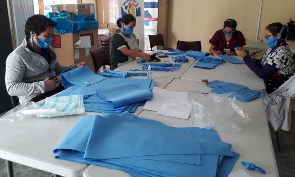 Hospital de Lolol elabora sus propias mascarillas