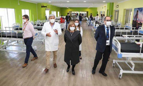 Intendenta inspeccionó Hospital de Campaña en Estadio El Teniente el que cuenta con 70 camas para la pandemia