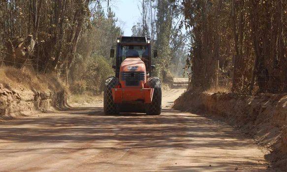 MOP O'Higgins avanza en construcción de caminos, con los debidos resguardos por pandemia COVID-19