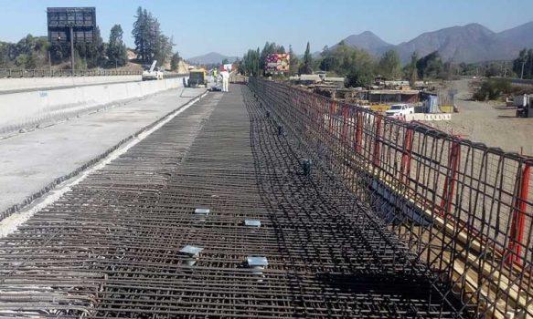 MOP O'Higgins informa trabajos en puente Peuco por terceras pistas en Ruta-5