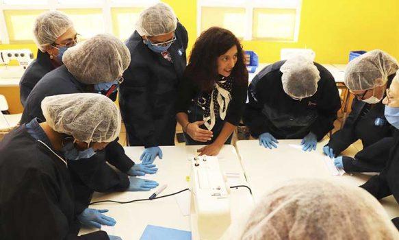 Municipio de Rancagua inicia taller textil ciudadano de confección de mascarillas