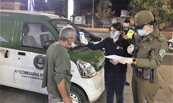 Personal del municipio de Rengo en conjunto a carabineros visitaron a más de 36 personas en situación de calle