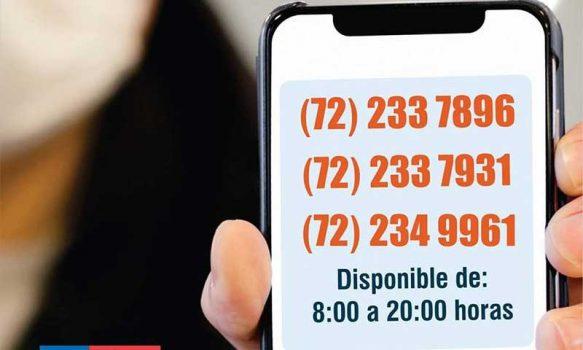 Servicio de Salud O'Higgins implementa teléfonos de orientación ante COVID-19