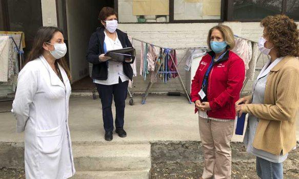 Supervisan cumplimiento de protocolo sanitario para adultos mayores en Hogar San Lorenzo de Rancagua