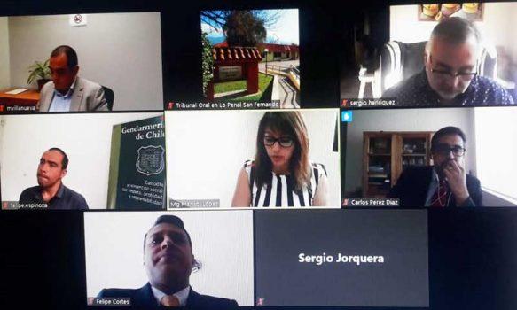 TOP San Fernando realiza primera audiencia en modalidad de teletrabajo