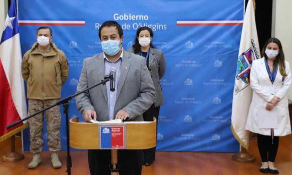 Cinco nuevos casos de contagios en la región de O'Higgins
