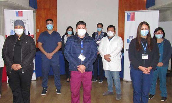 Equipo de Hospitalización Domiciliaria en Rengo orienta a red asistencial de la microárea