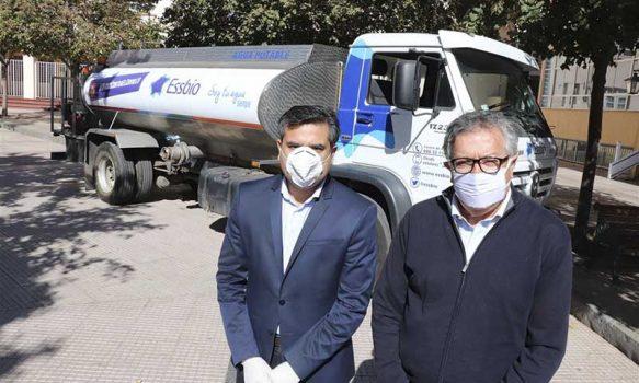 Municipio de Rancagua recibe aporte de empresa Essbio para sanitización de la ciudad