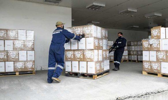 Agrosuper dona tres mil cajas de alimentos en la región de O'Higgins