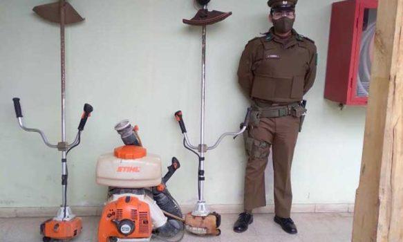 Carabineros de Marchigüe detienen a sujeto por receptación de máquinas