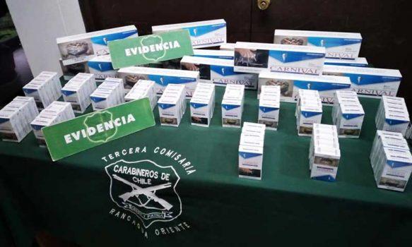 Carabineros detuvo a sujeto con cigarros de contrabando en feria libre de Rancagua