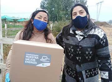 Dirigentes vecinales de Mostazal, comercio local y Colbún se unen para distribuir canastas de alimentos
