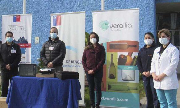 Empresa Verallia dona equipamiento médico al Hospital de Rengo