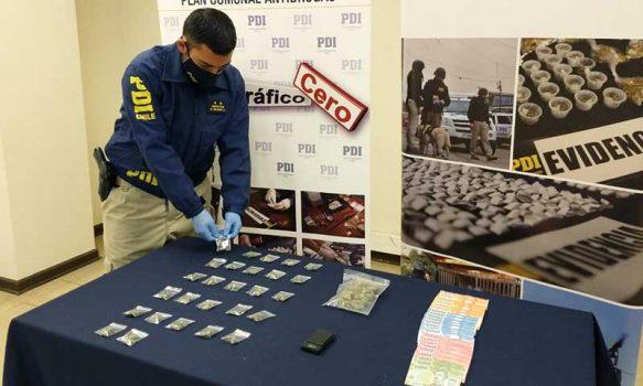 PDI efectúa procedimientos por drogas en Santa Cruz y San Vicente de Tagua Tagua