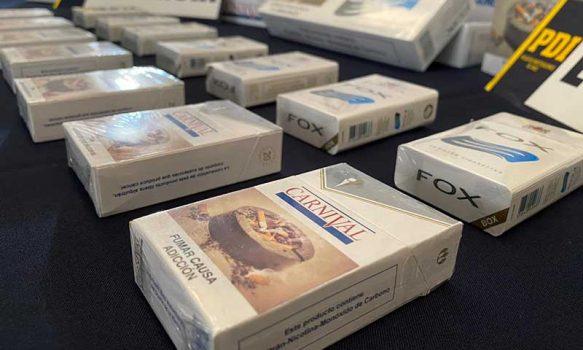 PDI sorprendió a sujeto que tenía casi 480 cajetillas de cigarros de contrabando