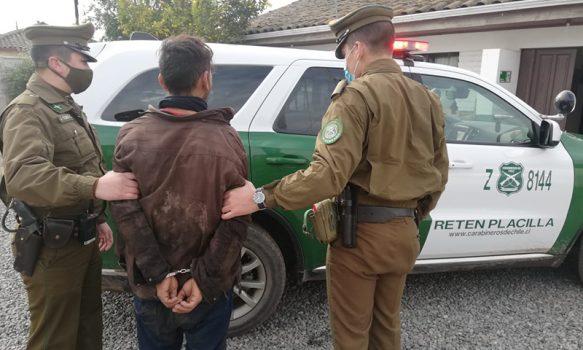 Detenido por robo en Placilla