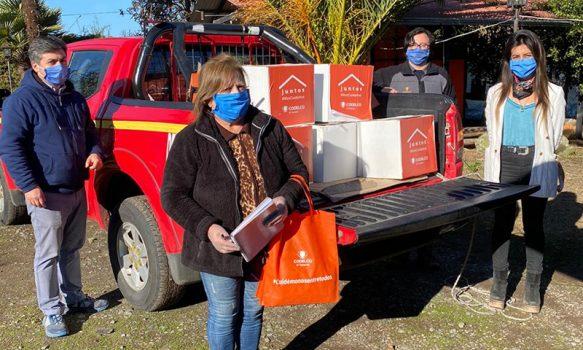 El Teniente apoya con alimentos a la comunidad de Doñihue