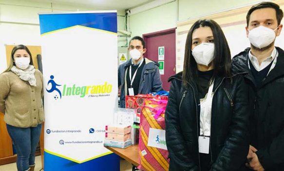 Jóvenes que cumplen sanción en Centro Semicerrado de Rancagua reciben donación de Fundación Integrando