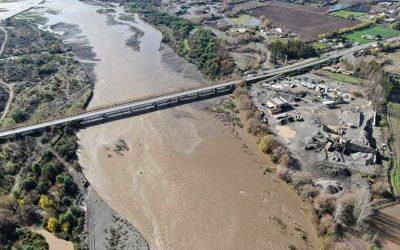 MOP O'Higgins destaca obras preventivas de Plan Invierno en recientes lluvias en la región