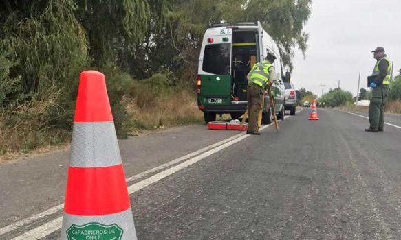 Nancagua: Accidente de tránsito deja una persona fallecida