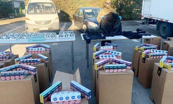 Nueve detenidos por robo a camiones de cigarrillos