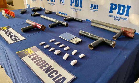 PDI detuvo a banda de adolescentes que amedrentaban con armas a vecinos de Mostazal