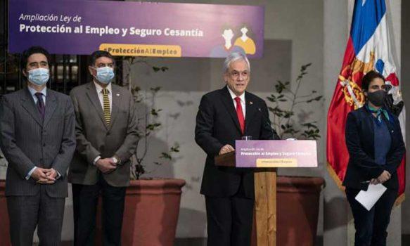 Presidente Piñera firma proyecto que amplía Ley de Protección del Empleo y del Seguro de Cesantía