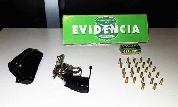 Rancagua: Carabineros detuvo a menor de edad con arma de fuego y municiones