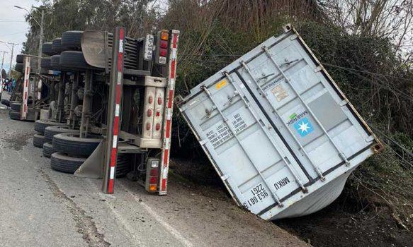 Rengo camión accidentado