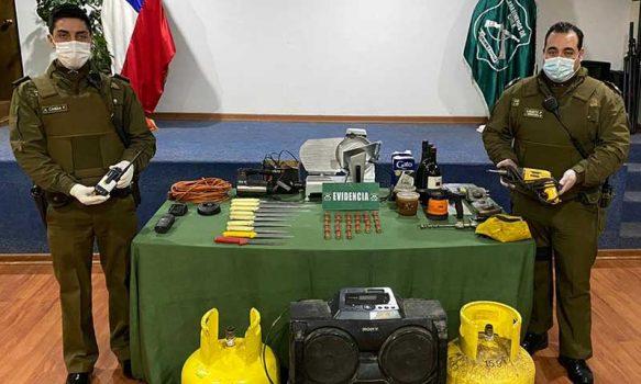 San Fernando: Cinco sujetos detenidos por robo y receptación