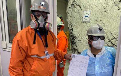 Sernageomin realizó importante fiscalización en el nivel Sub 6 de la mina El Teniente