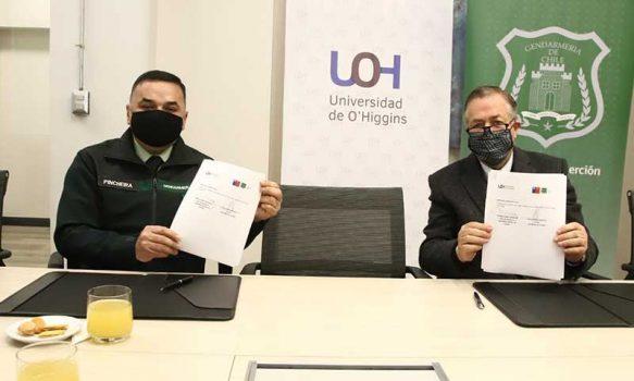 UOH y Gendarmería sellan compromiso para trabajar en materia de reinserción social