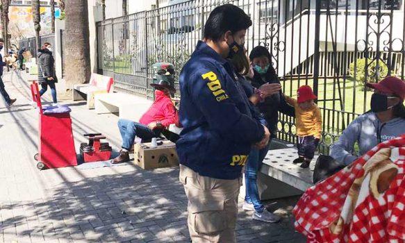 En Rancagua y Machalí PDI efectúa fiscalizaciones a extranjeros