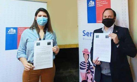 Fosis y Sernameg firman convenio para apoyar a emprendedoras