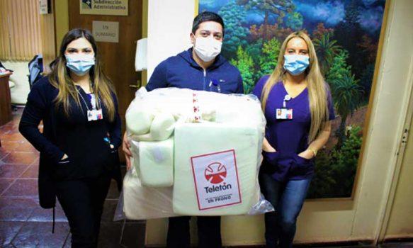 Fundación Teletón dona 10 set de posicionamiento a Hospital San Fernando