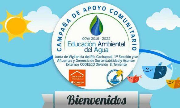 Programa de Educación Ambiental del Agua entregará 7 videos y 170 sets a estudiantes de Ciencias de los colegios de Coya y Chacayes