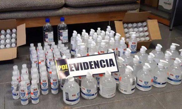 Rancagua: PDI nuevamente incauta supuestos desinfectantes desde Mall chino
