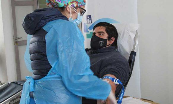 Rengo: Bomberos dona vida en colecta de sangre