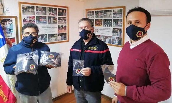 Requínoa: Bomberos agradecen a empresas locales por donación de mascarillas