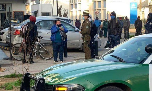 Resguardo policial a personas que retiran el 10% de las AFP