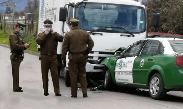San Fernando: Accidente involucró vehículo policial