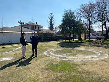 San Fernando entrega terrenos para mejoramiento de la plaza Villa Marista
