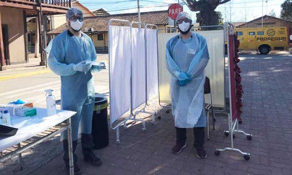 Coinco: En la plaza se realizó nuevo operativo de toma de PCR