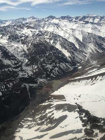 DGA O'Higgins sobrevuela Cordillera