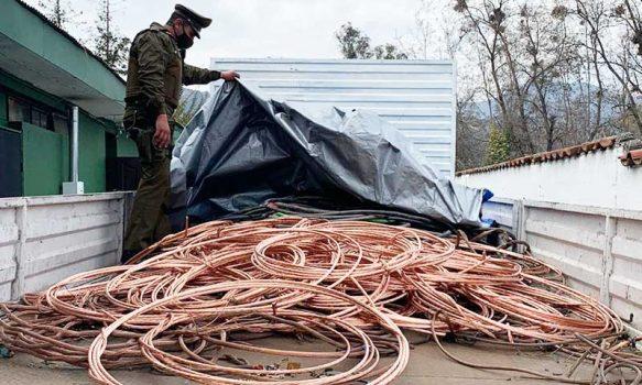Machalí: Cuatro detenidos por receptación de 7000 kilos de cable de cobre