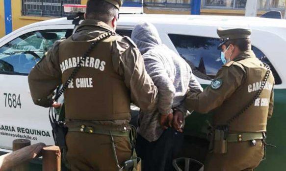 Requínoa: Carabineros aclara dos robos y detiene a tres personas