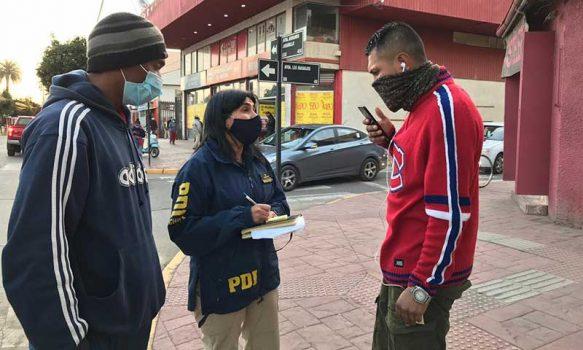 San Fernando: PDI detecta a un extranjero con orden de detención pendiente