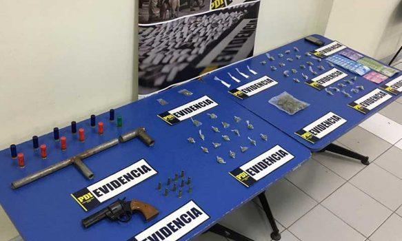 San Fernando: PDI detiene cuatro sujetos que vendían drogas en una villa